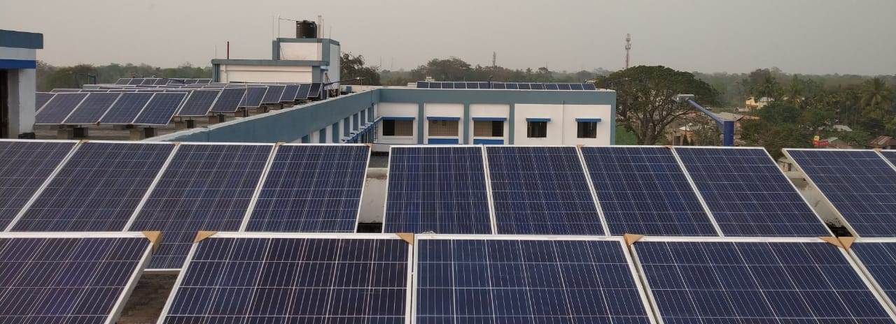 Rooftop solar at Panchanan Barma University