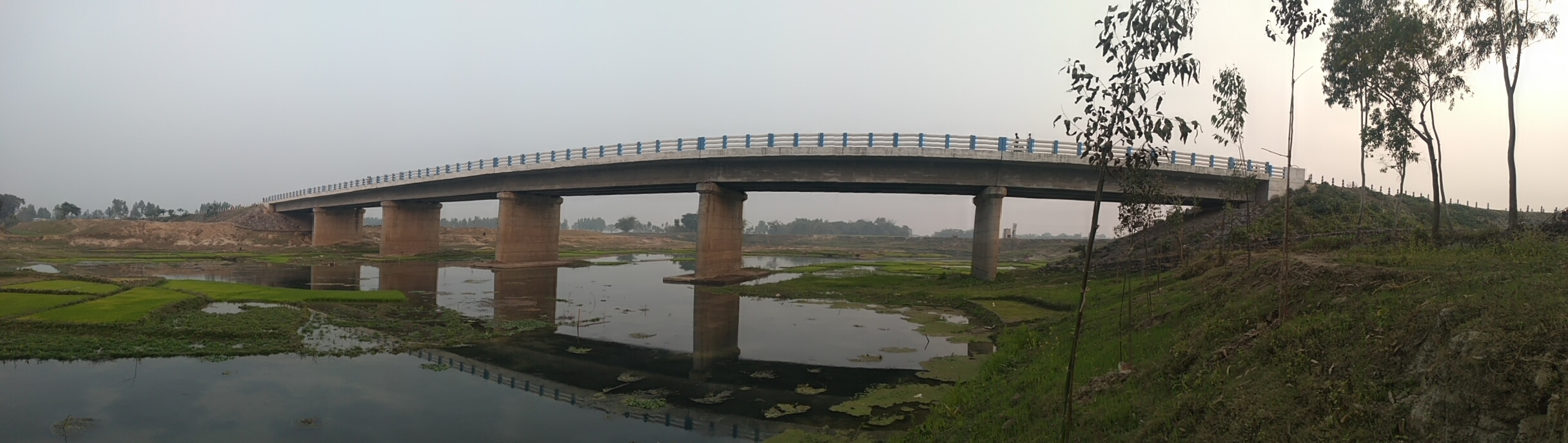 Bridge over river Paharhori pur